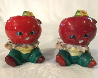 Vintage Made in Japan Tomato Salt and Pepper Shakers