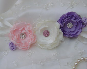 Wedding sash, Bridesmaid Sash, Flower-girl Sash