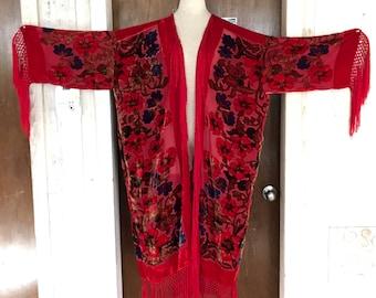 Rich Red Kimono/Duster