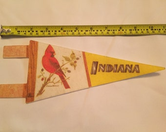 Vintage Indiana Pennant with Cardinal (State Bird)