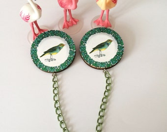 Double spindle: birds (green)