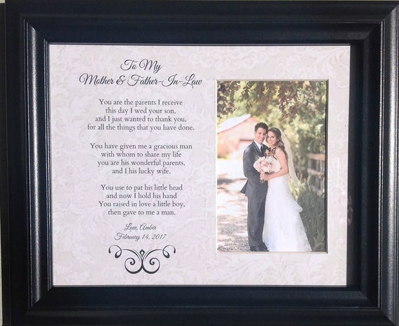 Daughter In Law Personalized Poem: Mother And Father In Law Wedding Parents Bride Groom
