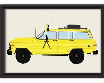 Custom Car Illustration Rendering