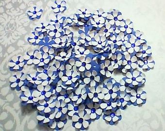 Blue & White Flower Confetti, Wedding Confetti, Bride and Groom flower confetti, Flower Confetti, Happy BIrthday Confetti, Flower ornaments