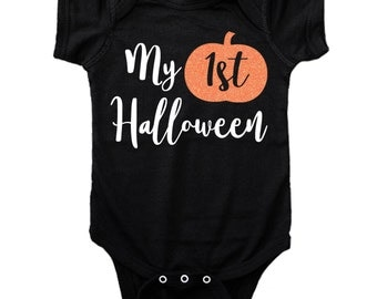 My First Halloween Bodysuit or Tee, Baby's First Halloween, Halloween Shirt, 1st Halloween, Halloween Bodysuit for Baby, Pumpkin Shirt