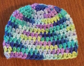 Newborn crochet baby beanie