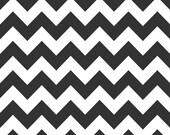 Riley Blake, Medium Chevron, Black and White, fabric by the yard