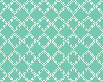 Riley Blake, Extravaganza By Lila Tueller Designs C4644 Teal Geometric, fabric by the yard