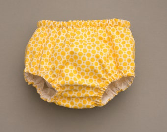 Diaper Cover - Yellow Dots pattern