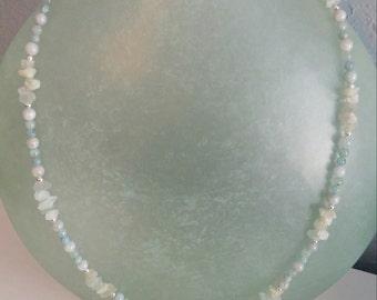 The Sasha! Handmade with Aquamarine Gemstones