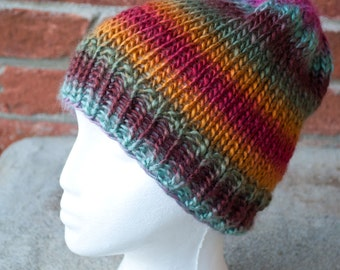 Colorful Knit Beanie Hat