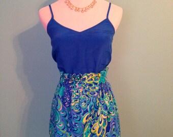 Custom Made Lilly Pulitzer Elastic Waist Skirt
