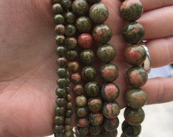 Unikite/epidot beads 3mm,4mm,6mm,8mm,10mm,12mm