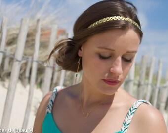 Headband Maï, jewel of head, hair, hairstyle, romantic, gilt fine gold