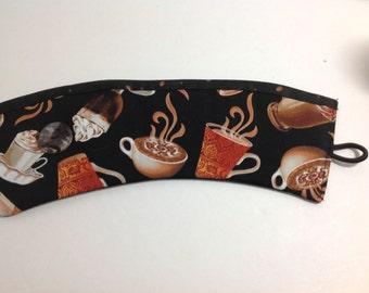 Coffee Cozy /Cup warmer / Reusable coffee sleeve / Fabric Coffee Cozy / Cup holder / Cup Sleeve/ Fabric Coffee Sleeve Coffee and Cappuccino