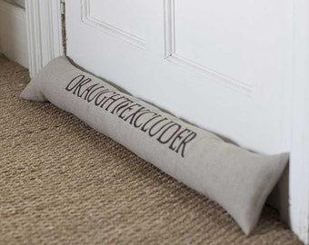Linen 'Draught Excluder' Draught Excluder