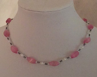Necklace and Bracelet Pretty In Pink #210