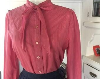80s Fuschia Western Shirt