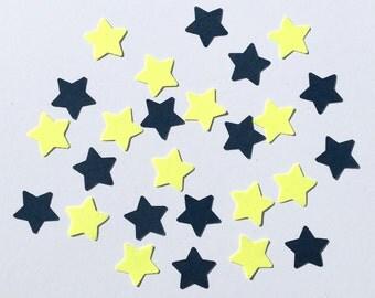 200 Star Confetti Yellow Navy Star Confetti Yellow Confetti Navy Confetti Birthday Confetti Wedding Confetti Baby Confetti Die Cut Punch