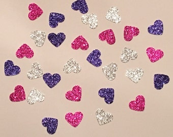 225 Pink Purple and Silver Confetti Glitter Confetti Shower Confetti Baby Confetti Wedding Confetti Birthday Confetti Bachelorette Party