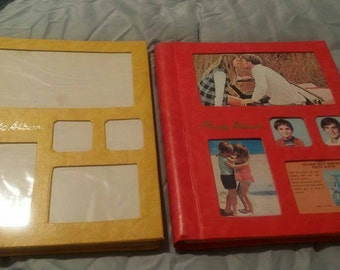 Two Beautifully Bold, vintage photo albums.  Never used! 1970's?