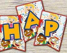 Little Einsteins Banners - Little Einsteins Happy Birthday Banner - Little Einsteins Party - Instant Download-Little Einsteins Labels