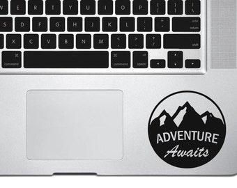 Adventure decal sticker , Mountain decal, adventure awaits decal, travel decal, car decal, macbook decal, wall decal, vinyl sticker