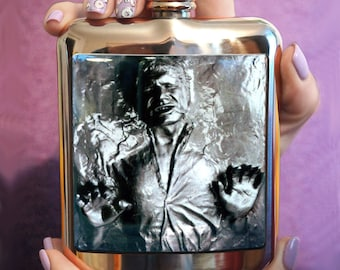 FLASK HAN SOLO Carbonite Hip Flask Personalized Flask Funny flask Birthday Gift Birthday gift ideas gift flask