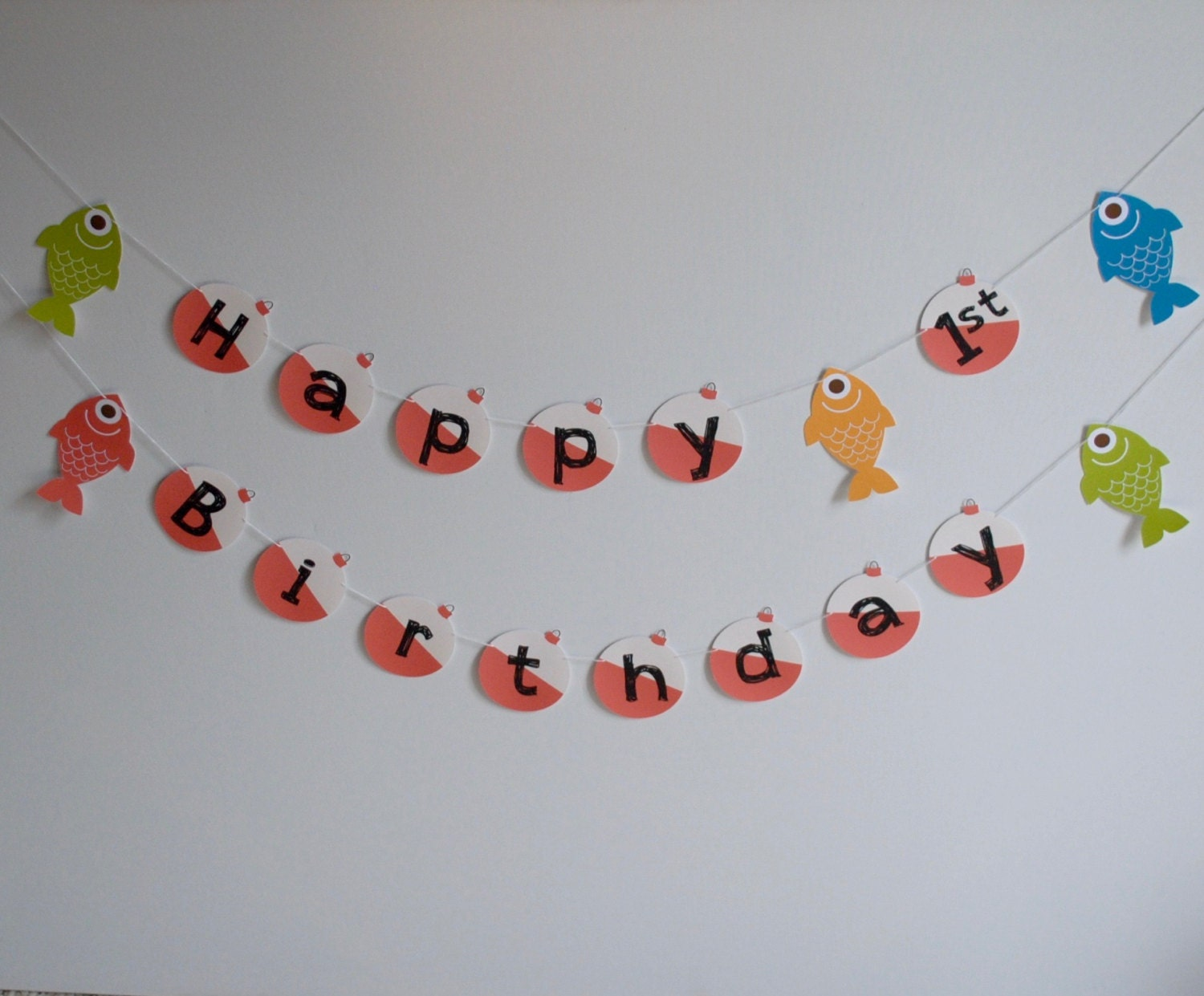 gone fishing banner happy 1st birthday 6ft by papersupplystation