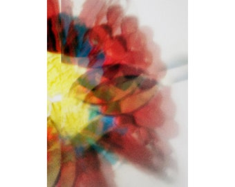 out of focus red, print, home, wall art