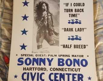 Cher concert  poster
