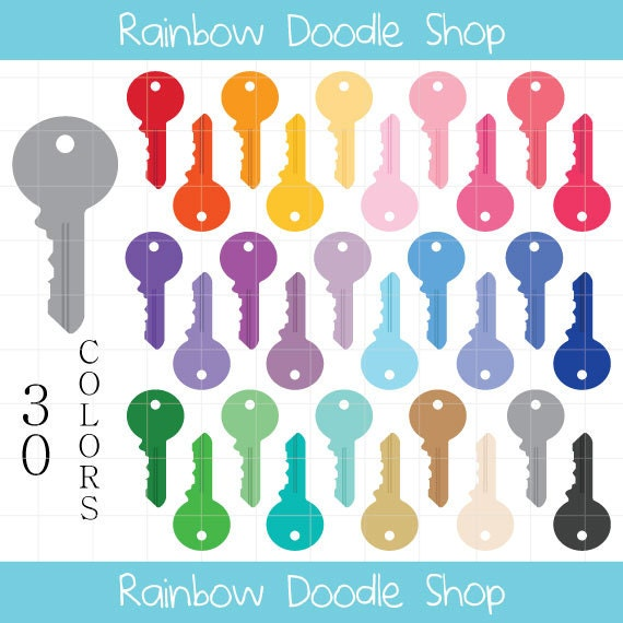 Key Clipart House Keys Colorful Keys Clip Art House