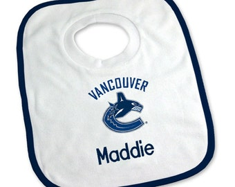 Personalized Vancouver Canucks Baby Bib