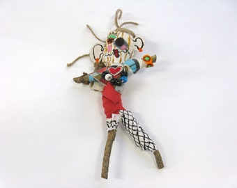 Female Voodoo Doll, Ex Girlfriend Handmade Poppet or Pin Doll, Mixed Media