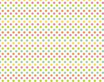 "Riley Blake  ""Small Dots"" Multi Cotton Fabric"
