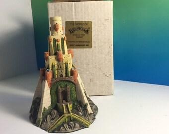 WORLD KRYSTONIA TARNHOLD Castle fortress figurine statue sculpture dragons wizards England made Uk 3202 stoke on trent