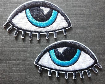 Eyes Pair Weird Iron On Patch