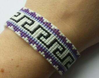 Aztec style beadwoven bracelet