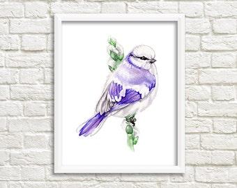 Bird Watercolor Print, Watercolor Painting Art Print, Bird art, Wall Art