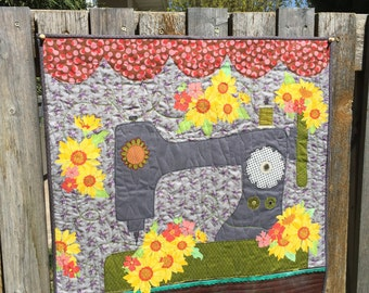 sewing art quilt pattern - sewing machine quilt