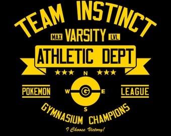 Team Instinct Athletics Dept. - Pokemon GO Men's Unisex T-Shirt - AR Pokemon Gaming Parody Clothing