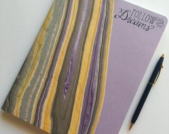 Lavender Marbled Journal
