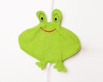 Smiling Frog Face - Washcloth