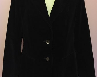 Vintage M&S Black Velvet Blazer