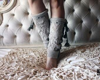 Leg Warmers - Knit Leg Warmers - Women's Leg Warmers - Festival Leg Warmers - MezhanBoutique