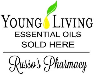 """Young Living Store Window Vinyl Decal 3 color 18"""" x 15"""""""