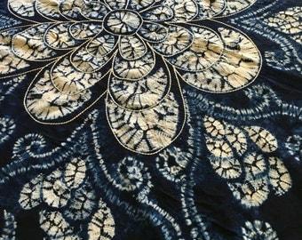 Chinese 'Shibori'| Yunnan hand made tie dye tablecloth