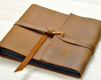 Leather Wedding Photo Album,Leather Guestbook for Weddings, scrapbook album,Weddings Guest Book,Leather scrapbook