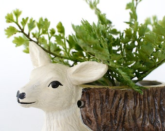 Vintage Ceramic Deer Planter