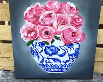 Floral Oil on Canvas - Still Life  - Floral Oil Painting